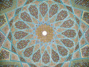 Roof of the tomb of Hafez, Sufi poet