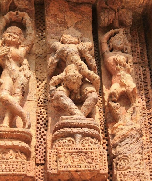 photo of tantric temple carving