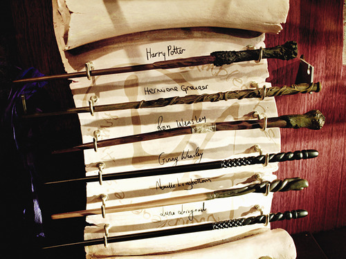 magic wands from Harry Potter movies