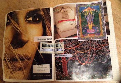 the path of a woman collage - a woman's spiritual journey